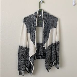 Very soft and cute black and white cardigan